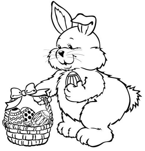 Imagenes De Conejos Y Huevos De Pascua Para Pintar Mundo Imagenes