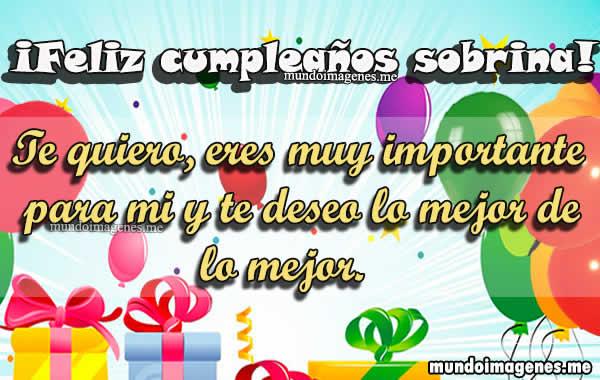 Imagenes De Feliz Cumpleanos Sobrina Con Frases De Felicitacion