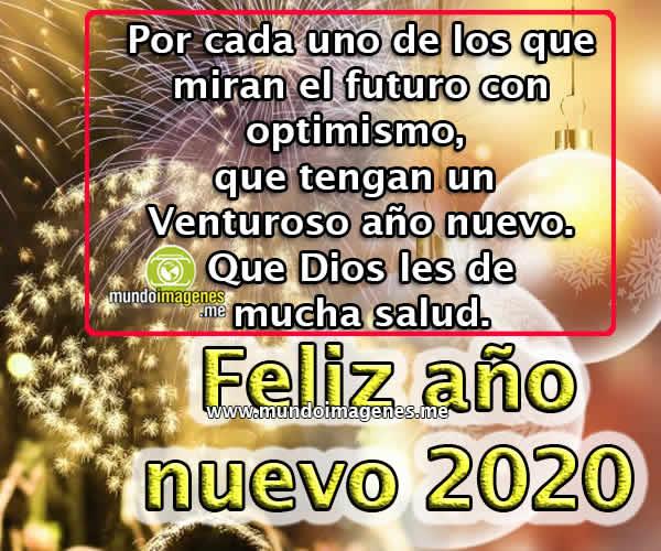 Imagenes De Feliz Año Nuevo 2020 Con Frases Saludos Mundo