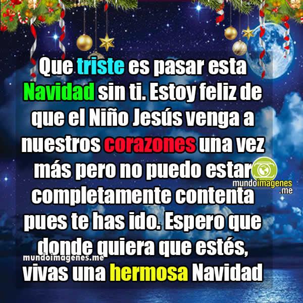 Frases Tristes De Navidad Para Dedicar A Alguien En El Cielo