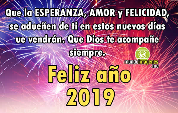 Imagenes Año Nuevo 2019 Palabras Felicitaciones
