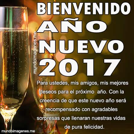 Imagenes De Bienvenido Año Nuevo 2017 Frases Amigos