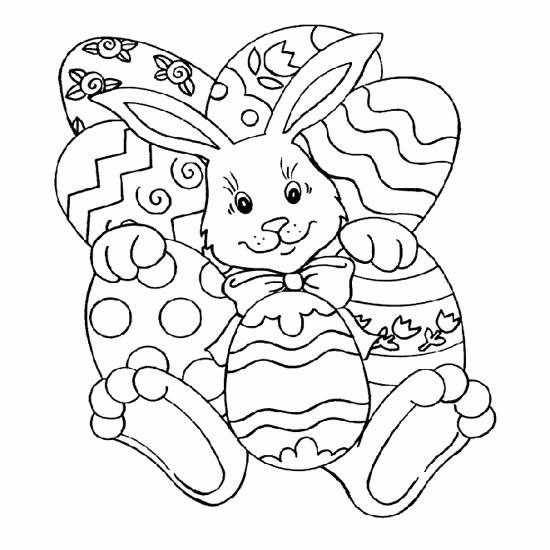 Imagenes De Conejos Y Huevos De Pascua Para Pintar