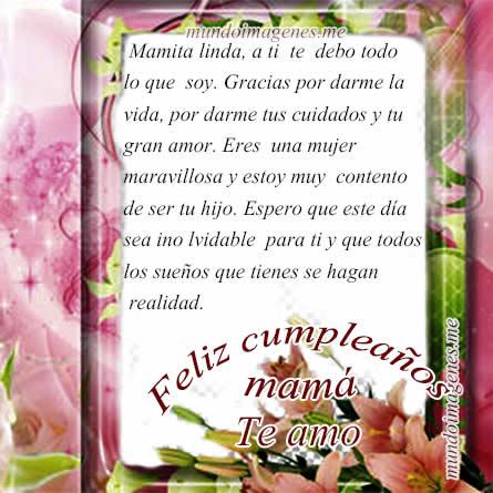 Imagenes De Feliz Cumpleaños Mamá Con Frases Bonitas - Mundo ...