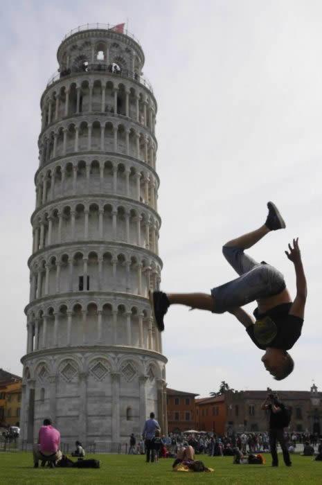 Imagenes Graciosas E Ingeniosas Con La Torre Pisa